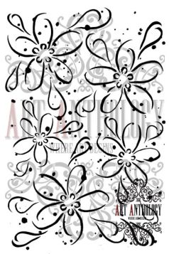flowerstencil def web